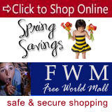 Shop Online 24 hours a day, 7 days a week at Free World Mall